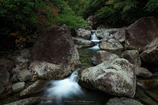 初秋の片知渓谷