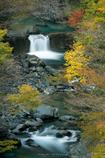 付知峡、秋の景
