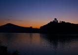 夜明け前の犬山城