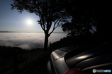 雲海に見惚れる相棒