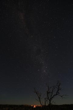 天の川 エアーズロックの星空