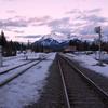 Sunset in Banff station