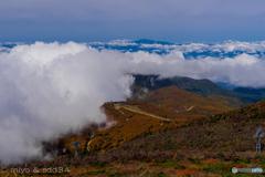蔵王 地蔵山から月山の眺め