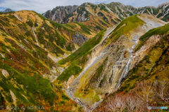 ソーメン滝(左端に劔がちょこん)