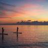 早朝の西表島で