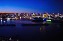 フジテレビ球体展望台はちたまから見た東京の夜景