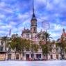 エフェクトかけすぎシリーズ バレンシアの広場とモクモクな雲