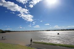 台風一過川幅日本一