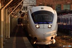 夕方の長崎駅 885系