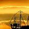 夕焼け帆船