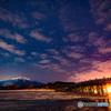 春待つ富士見湖の夜2018