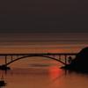 彼岸の夕陽に染まる海Ⅳ