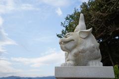 青島神社の狛犬さん