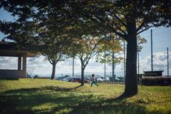 西公園を駆ける