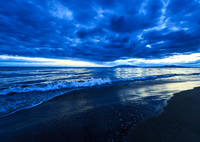 CANON Canon EOS 6Dで撮影した(雲と夕波)の写真(画像)