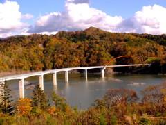 湖上に架かる橋