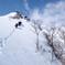西黒尾根を登る群馬県警山岳警備隊