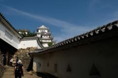 姫路城を望む