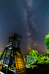 8月の夜空