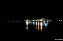 氷見漁港の夜明け