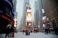 Blizzard in Times Square③