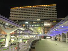 夜の小倉駅前 ①