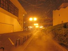 雪の降りしきるベイサイドプレイス博多①