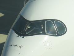 福岡にASIANA A350が飛来です ③