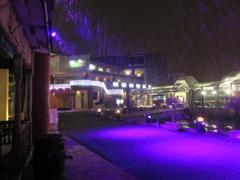雪の降りしきるベイサイドプレイス博多⑧