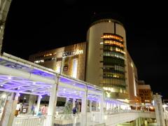夜の小倉駅前にて