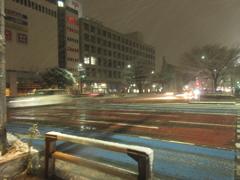 福岡市中央区天神の積雪の様子です⑥