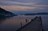 桟橋のある琵琶湖夕景Ⅱ
