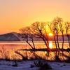 長閑な湖北の夕暮れ