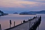 桟橋のある琵琶湖夕景Ⅰ
