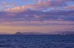 琵琶湖の夕空~初秋~