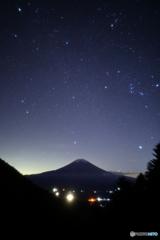 V字谷からの星空