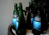 Blue bottles.