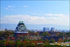 ポップな秋の大阪城