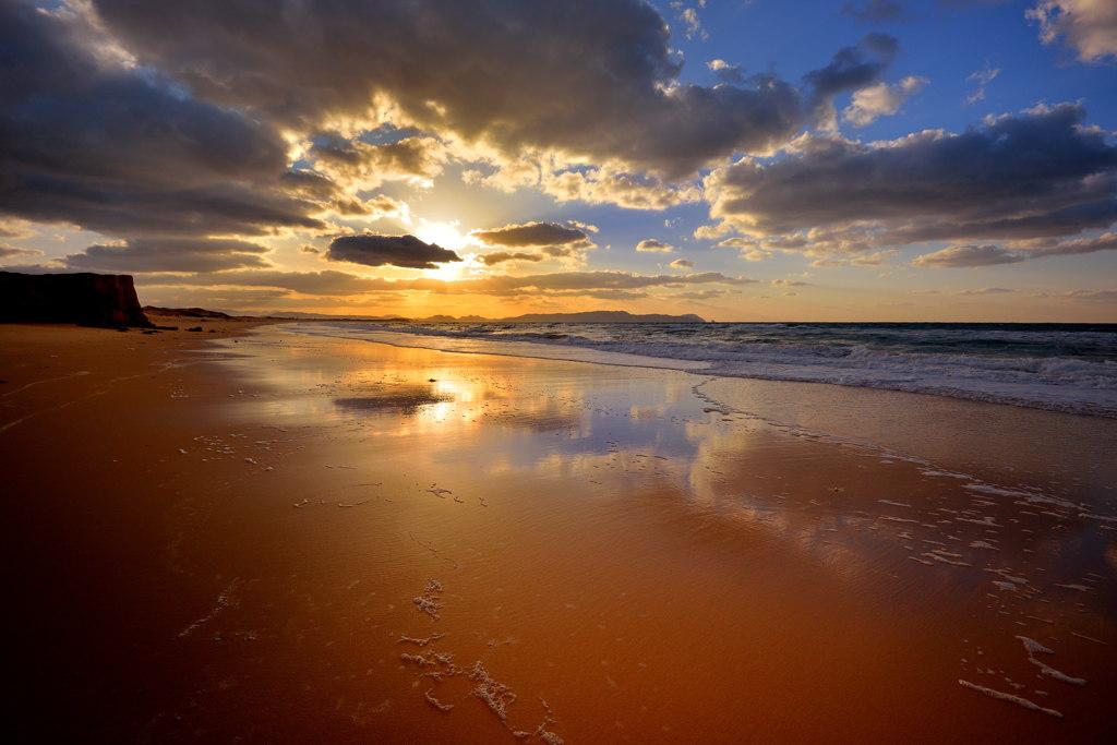 夕陽を追いかけて~いつもの浜辺Ⅱ