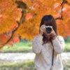 素敵なカメラ女子( 紅葉と私)