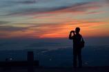夕陽のカメラマン