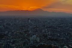 富士へ日没(85)