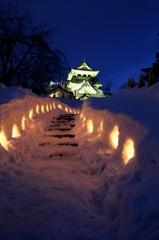 雪の横手城