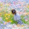 花の中の少女