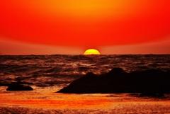 日本海の冬景色 洛陽