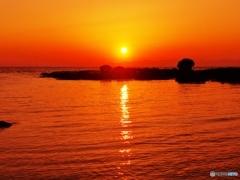小港の夕景