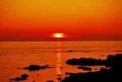 落陽 日本海