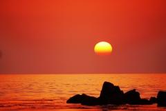 夕景 日本海は能登
