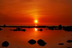 夕景 能登の海