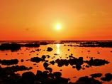 潮溜まりの夕景